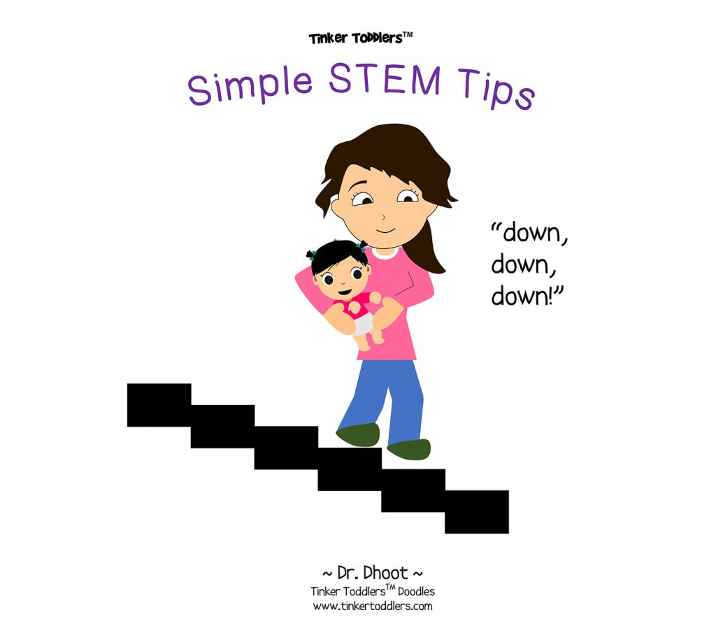 mom and daughter, stairs, stem tips, mom and baby, mom and toddler
